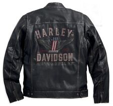 Harley Davidson Men's  Long  Way  Distressed  Leather Jacket. US XL. New !