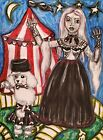 Night Circus Gothic Art Print 8x10 Poodle Living Dead Girl Signed Halloween