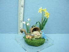 Dollhouse Miniature Outdoor Flower Vignette #5  Paula Gilhooley - 1/12th Scale