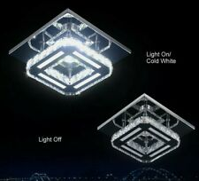 Modern Square Mini Crystal Ceiling Light Chandelier Crystal LED Pendant Lighting
