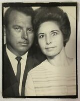 November 6th,1966, Lovers In The PHOTOBOOTH, Couple, Vintage Photo Snapshot