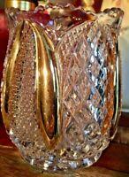 EAPG Spooner by Tarentum Glass Company 1897 Harvard Yard Pattern Gold Flash