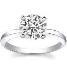 1.50 Ct Round Cut Diamond Solitaire Ring 18K White Gold H,VVS2 GIA Brand NEW