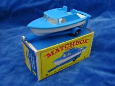 JOLI / Nice & TOP ! MATCHBOX LESNEY MOKO - CABIN CRUISER AND TRAILER 9 / Bateau