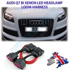 2x Audi Q7 Halogen to Bi Xenon HID Headlight Adapter DRL Wiring Loom Harness