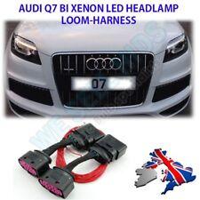 * Audi Q7 Halogen to Bi Xenon HID Headlight Adapter DRL Wiring Loom Harness