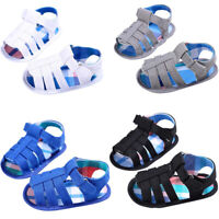 Baby Infant Kids Girl boys Soft Sole Crib Toddler Newborn Sandals Shoes X1F7