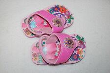 Baby Toddler Girls Trolls Light Up Flip Flops Sandals Pink Glitter Flowers M 7-8