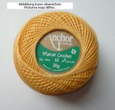 Hilo de ganchillo Anchor Mercer Crochet 20g pcs. 10 Amarillo Maíz fb.311