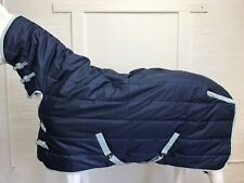 REJECTED 1800D NAVY 300G WINTER STABLE HORSE COMBO RUG 5' 6