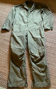 Genuine RAF Pilot Flight Suit Coverall MK14A Sage Green Size 6 (Large) UK