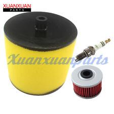 New Air Filter & Oil Filter For Honda Rancher 350, Foreman 400 & 450 Spark Plug