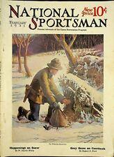 Vintage National Sportsman Magazine February 1931 Hunting Fishing