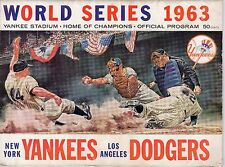 1963 World Series program, Los Angeles Dodgers @ New York Yankees FrT ~ unscored