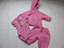 Childrens Place Girls Outfit 3 Pc Pants Hooded Jacket One Piece 3 - 6  Mos #6889