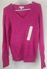 St. Johns Bay Tropical Pink Knit Sweater- Size Large