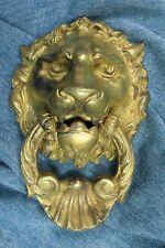 Knocker Lion face. Modernist. Bronze. S.XX Knocker  Aldaba Cara de león. Moderni