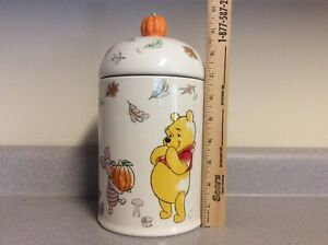 NEW Disney Winnie The Pooh and Friends Cookie Jar with Pumpkin  Topper