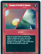 Star Wars CCG Reflections II Combo Premium Sunsdown & Too Cold For Speeders