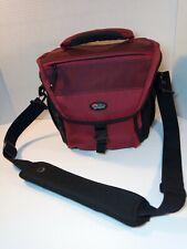 Lowepro DSLR Camera Bag Nova 170 AW Shoulder Strap Maroon Rain Cover Lens Equip