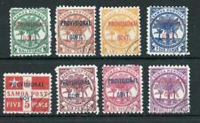 Samoa 1899-1900 Provisional set SG90/7 FU cat £150