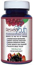 RESVERA YOUTH  POWERHOUSE ANTI-AGING ANTIOXIDANT RESVERATROL BOTTLE 60 Capsules