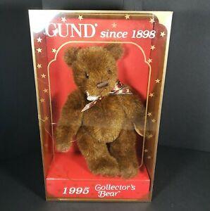 Vintage Gund Teddy Bear Collectible 1995 Brown Stuffed Plush