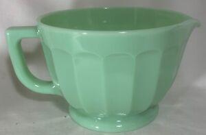 Batter Bowl - Jade Jadite Jadeite Green Glass - Mosser USA