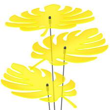 3 Stück SUNPLAY Sonnenfänger Ø20cm Suncatcher Gartenstecker Palmenblätter GELB
