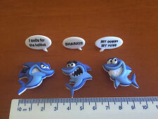 Shark Novelty Buttons with Word Bubbles by Dress It Up Jesse James Buttons 8308