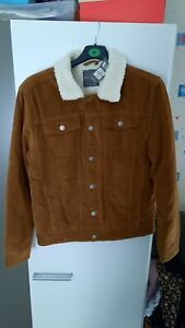 Mens Brown Corduroy Coat primark brand new with tags size Medium