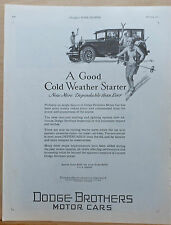 1927 magazine ad for Dodge - Skiers and Dodge, Good Cold Weather Starter