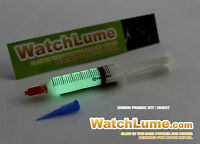 WATCHLUME GLOW IN DARK PAINT FOR WATCH HANDS PREMIXED RE-LUME KIT PAINT LUMINOUS