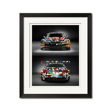 BMW M3 GT2 Art Car Poster Print