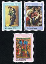 Australia Sc# 756 -758 = 1980 Christmas Set of 3 = Mint Perfect Nh