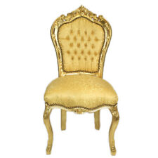 CHAIRS FRANCE BAROQUE STYLE DINING ROYAL CHAIR GOLD / GOLD #60ST5