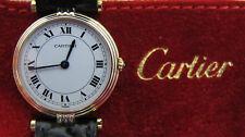 Zauberhafte CARTIER VENDOM Damenuhr Gold 750 18 Karat + Cartier Uhrmäppchen