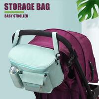 Baby Stroller Bag Storage Pram Pushchair Organiser Mummy Cup Bottle Nets Kid