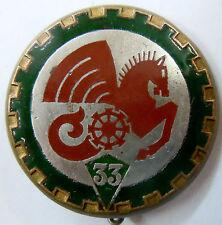 Insigne 1939 WWII 33° ESCADRON MIXTE DU TRAIN Drago Béranger déposé ORIGINAL