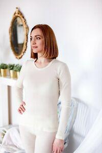 100% Merino Wool long sleeve women high quality Yoga Sports ski T-Shirt