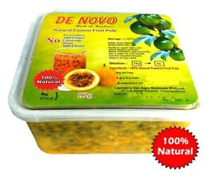De Novo Fresh Natural Passion Fruit Pure Pulp (Without Seeds) - Sri Lankan fresh