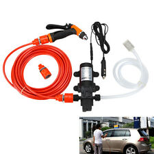 Portable 80W 130PSI High Pressure Car Home Garden Electric Washer Wash Pump 12V