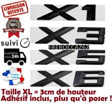 Chiffre numéro coffre emblème insigne LOGO BMW X1 X3 X5 X6 GT noir