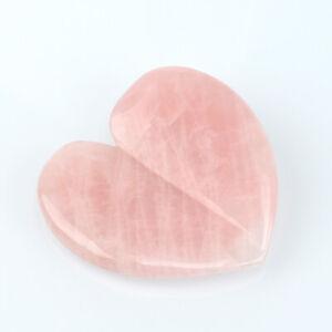 1Pcs Natural Rose Quartz Gua Sha Scraping Board,Heart Shape Massage Tool Board