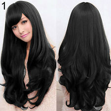 WOMEN LOLITA CURLY WAVY LONG FULL WIG HEAT RESISTANT COSPLAY PARTY HAIR ENTICING