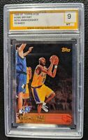1996 TOPPS 50TH FOIL KOBE BRYANT ROOKIE CARD RC LOS ANGELES LAKERS PCG 9 MINT
