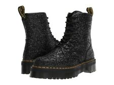 Women's Shoes Dr. Martens JADON GLITTER 8 Eye Platform Boots 25358001 BLACK