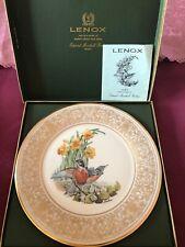 Lenox Boehm 1977 Robin Bird 11� Collector Plate in Original box Made In Usa