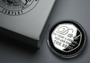HAPPY FATHER'S DAY Commemorative in Capsule & Gift Box. Gift/Present. Best Dad.