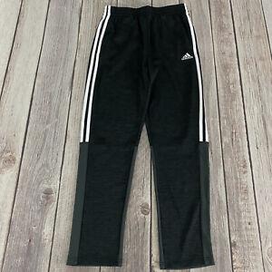 Adidas Climalite 3 Stripe Training Black Sweatpants Boys Youth Size XL 18/20